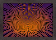 Optical Illusion Digital Art Posters - Vortex 11 Poster by WB Johnston