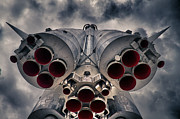 Burner Prints - Vostok rocket engine Print by Stylianos Kleanthous