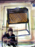 Songwriter Mixed Media Metal Prints - Vox and George Metal Print by Russell Pierce