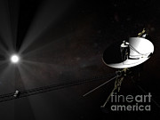 Interstellar Travel Prints - Voyager 1 Leaving The Solar System Print by Rhys Taylor