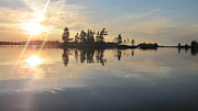 Voyageurs Metal Prints - Voyageurs Sunset  Metal Print by Jillian Helleloid