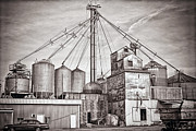 Feed Mill Posters - Voyces Mill Poster by Sennie Pierson