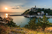 Pine Trees Photo Prints - Vrbnik Print by Davorin Mance