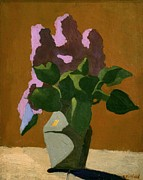 Interior Still Life Photo Metal Prints - Vuillardedouard 1868-1940. The Lilacs Metal Print by Everett