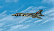 Fly Digital Art Prints - Vulcan Bomber Print by Adrian Evans