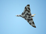 Vulcan Prints - Vulcan bomber in flight Print by Paul Cowan