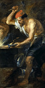Famous Artists - Vulcan forges Jupiters thunder by Peter Paul Rubens