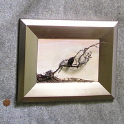 Featured Reliefs - Vulture Modern Frame by Roger Swezey