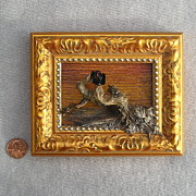 Roger Swezey - Vulture with Gold Frame