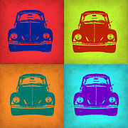 Bug Digital Art Metal Prints - VW Beetle Pop Art 5 Metal Print by Irina  March
