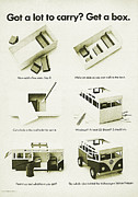 Vw Camper Van Prints - VW Bus Vintage Advert Print by Nomad Art And  Design