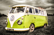 Vw Camper Van Prints - VW Campervan Print by Ian Hufton