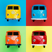Toy Car Posters - VW Campervans Poster by Tim Gainey