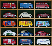 Beetle Framed Prints - VW Collectors Toys Framed Print by Tim Gainey