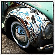Volkswagon Posters - VW Fender Art Poster by Gwyn Newcombe