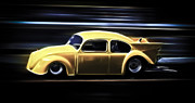 Vw Squareback Framed Prints - VW Flyer Framed Print by Steve McKinzie