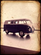 Combi Framed Prints - VW Micro Bus Redux Framed Print by Richard Reeve