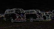 Vw Microbus Glow Print by Steve McKinzie