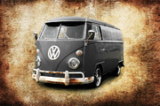 Vw Squareback Framed Prints - VW Old School Framed Print by Steve McKinzie