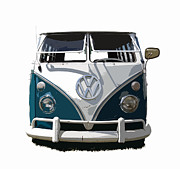 Vw Squareback Framed Prints - VW Safari Cutout Framed Print by Steve McKinzie