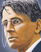 Writer Painting Originals - W B Yeats by Martin Keaney