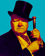 Laughing Prints - W C Fields 20130217m135 Print by Wingsdomain Art and Photography