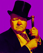 Laughing Prints - W C Fields 20130217m30 Print by Wingsdomain Art and Photography