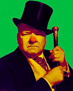 Tall Hat Prints - W C Fields 20130217p180 Print by Wingsdomain Art and Photography