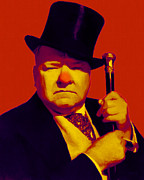 Tall Hat Prints - W C Fields 20130217p50 Print by Wingsdomain Art and Photography