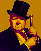 Hats Digital Art Framed Prints - W C Fields 20130217p80 Framed Print by Wingsdomain Art and Photography