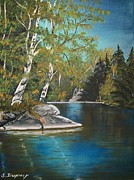 Landscape.by Sharon Duguay Originals - Wabigoon Lake by Sharon Duguay