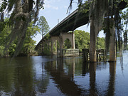 Waccamaw River Prints - Waccamaw Memorial Bridge in April 1 Print by MM Anderson