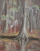 Waccamaw River Paintings - Waccamaw River Cypress by MM Anderson