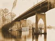 Waccamaw River Prints - Waccamaw River Memorial Bridge Print by Dawne Dunton