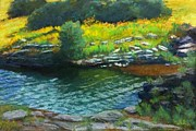 Overhanging Paintings - Wade in the Water by Julie Mayser