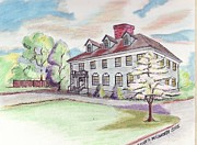 Paul Drawings - Wadworth School by Paul Meinerth