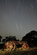 Startrails Photo Prints - Wagon and Stars 2AM 115864and115870 stacked image Print by Andrew McInnes