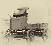 Conestoga Photo Metal Prints - Wagon Metal Print by Charles L Butterfield