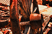 Catherine Wheel Prints - Wagon Wheel at Sunset Print by Catherine Fenner