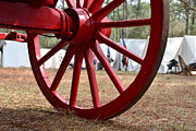 Wagon Photos - Wagon wheel camp by David Lee Thompson