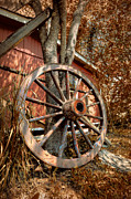 Hub Posters - Wagon Wheel Poster by Debra and Dave Vanderlaan