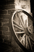 Western Architecture Prints - Wagon Wheel Print by Peter Tellone