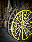 Wagon Wheels Posters - Wagon Wheels Poster by Colleen Kammerer