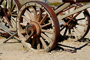 Wagon Wheels Photos - Wagon Wheels by Hank Taylor