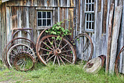 Wagon Wheels Photo Posters - Wagon Wheels in Color Poster by Crystal Nederman