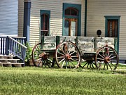 Country Music Town Prints - Wagon Wheels In Dodge City Print by Dan Sproul