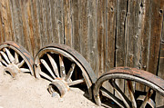 Wagon Wheels Photos - Wagon Wheels by Sherlyn Morefield Gregg