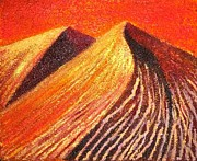 Sand Dunes Paintings - wahiba sands of Oman by Padmaja Madhu