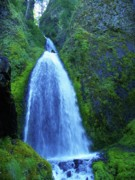Wahkeena Prints - Wahkeena Waterfalls Print by Photography Moments - Sandi