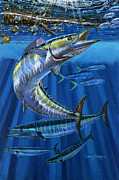 Yellowfin Tuna Prints - Wahoo Rip Print by Carey Chen